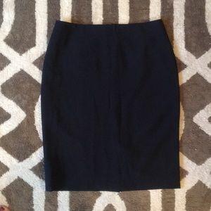 Talbots Navy Pencil Suit Skirt Sz 2